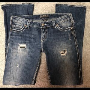 Silver Frances 31/33 distressed bootcut
